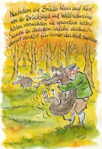 Wildschweinjagd mal anders