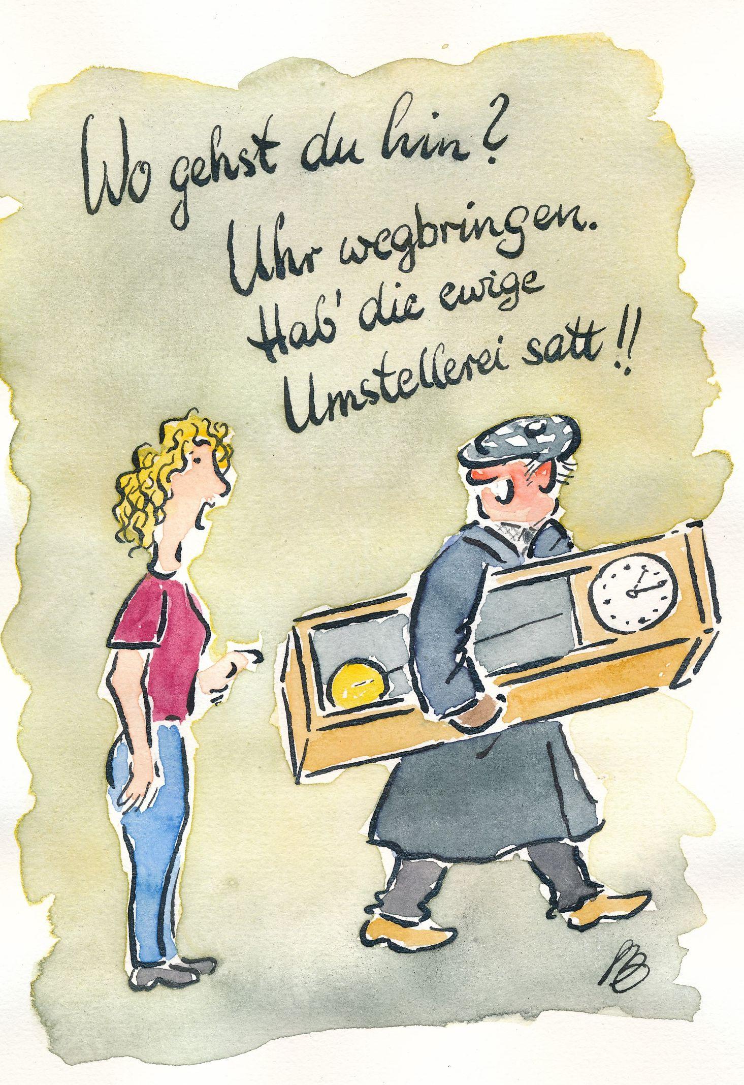 Uhrumstellung Karikatur 24 10 2018 Fränkische Zeitung